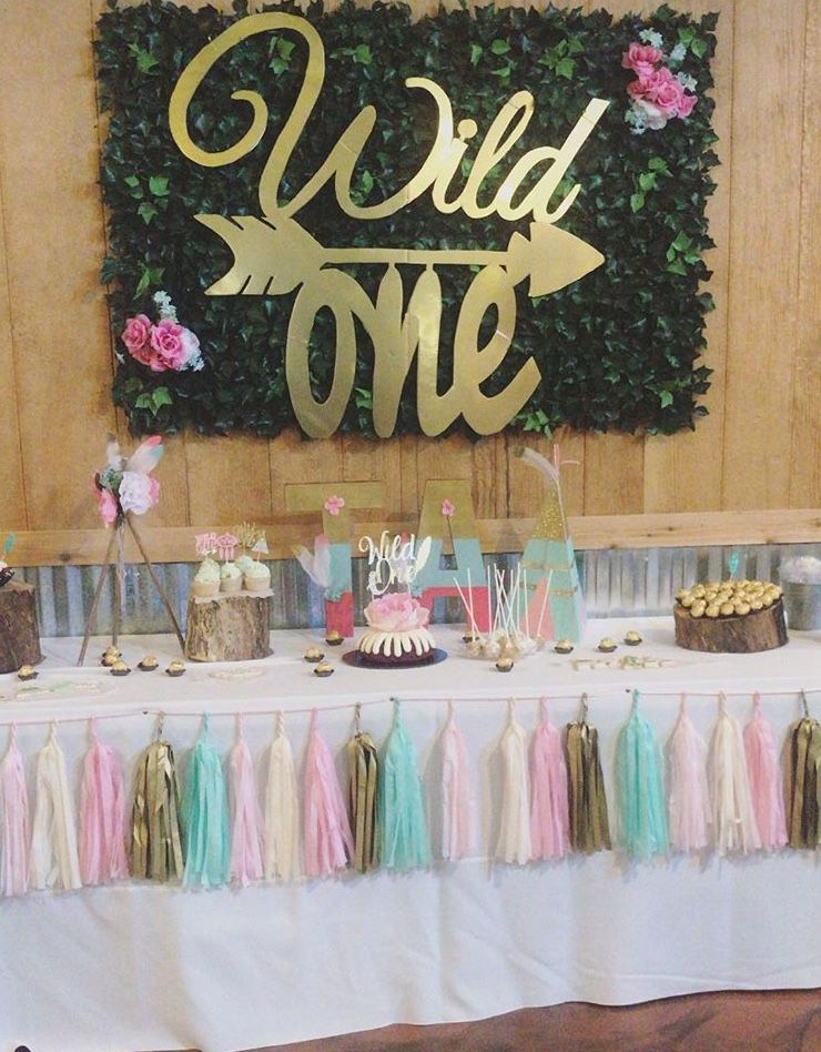 Baby's first birthday party Wild One theme Wild one