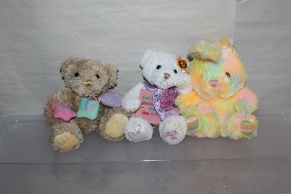 Easter holiday gifts bunny rabbit two very soft bears plush easter holiday gifts bunny rabbit two very soft bears plush animals negle Choice Image