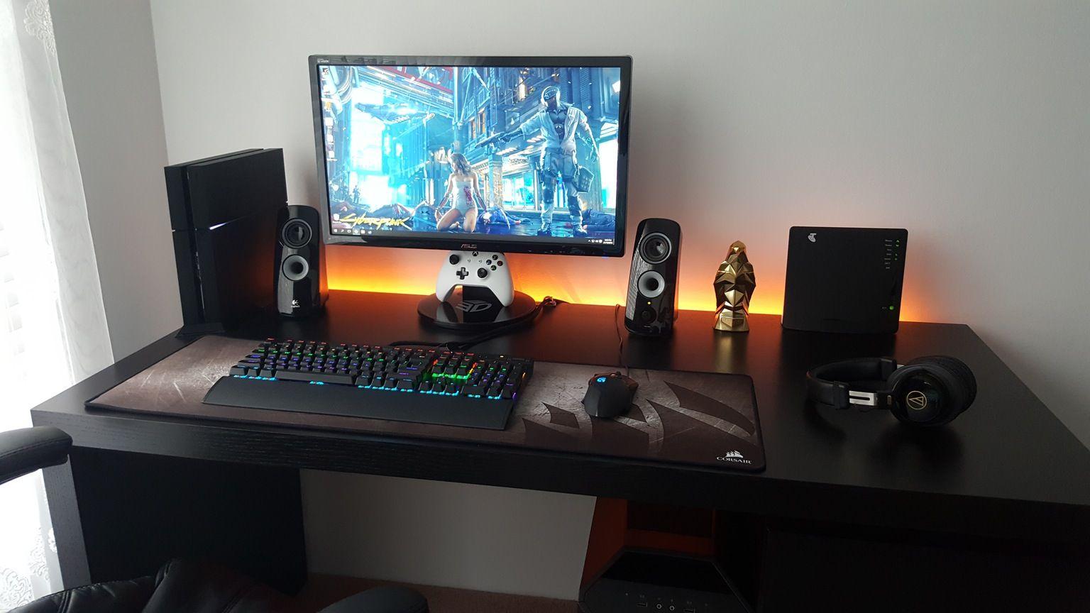 Gaming Desks   Gaming   Gaming setup, Pc console, Desk setup