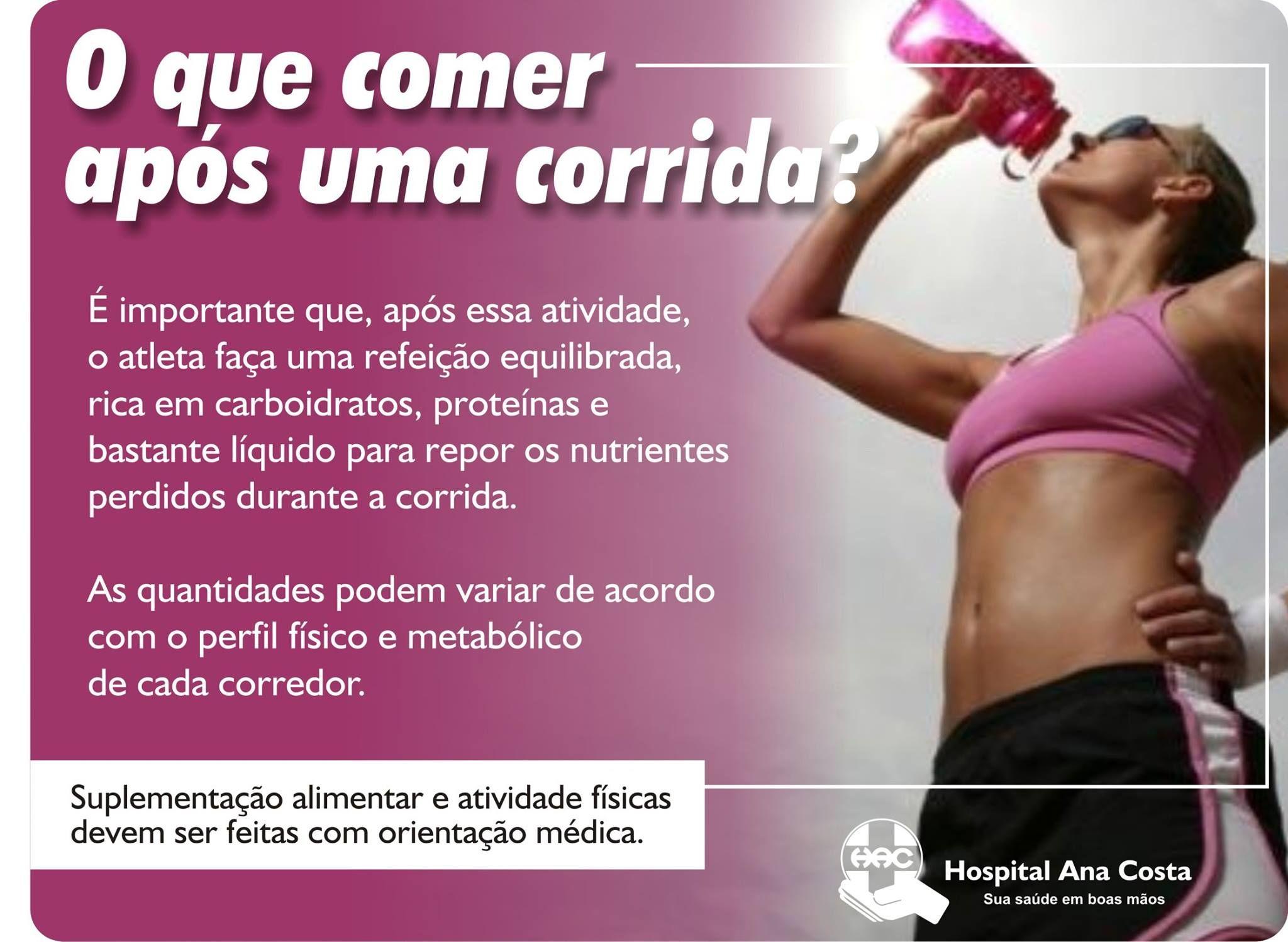 #Hac #HospitalAnaCosta #Saúde #BemEstar #Corrida #Exercícios #Correr #Ginástica #Nutri #Nutrição #Alimentação #Oquecomer #Fome