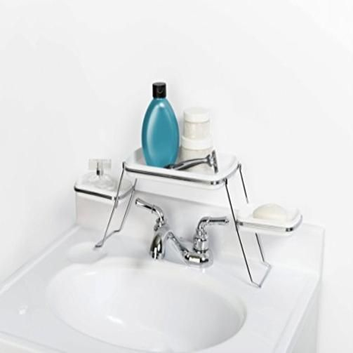 Zenith Products Small Spaces Over The Faucet Shelf Bathroom ...