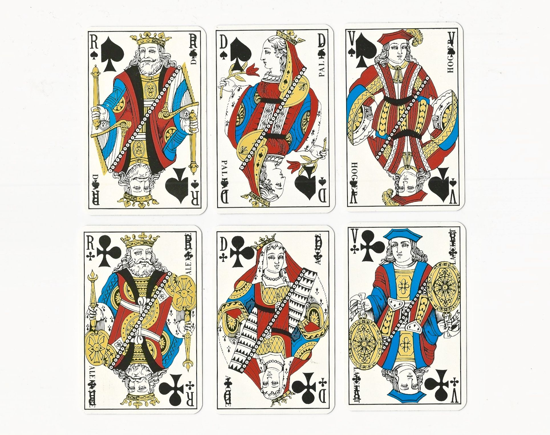 Face Cards from 54 Cartes Deluxe Deck | Deck of cards ...