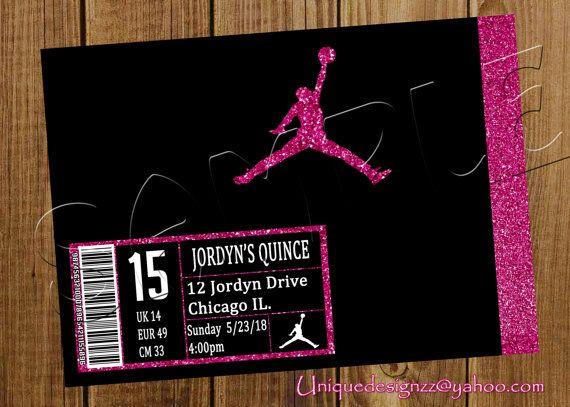 Jordan Shoe Box Birthday Invitation by UniqueDesignzzz on Etsy – Michael Jordan Birthday Invitations