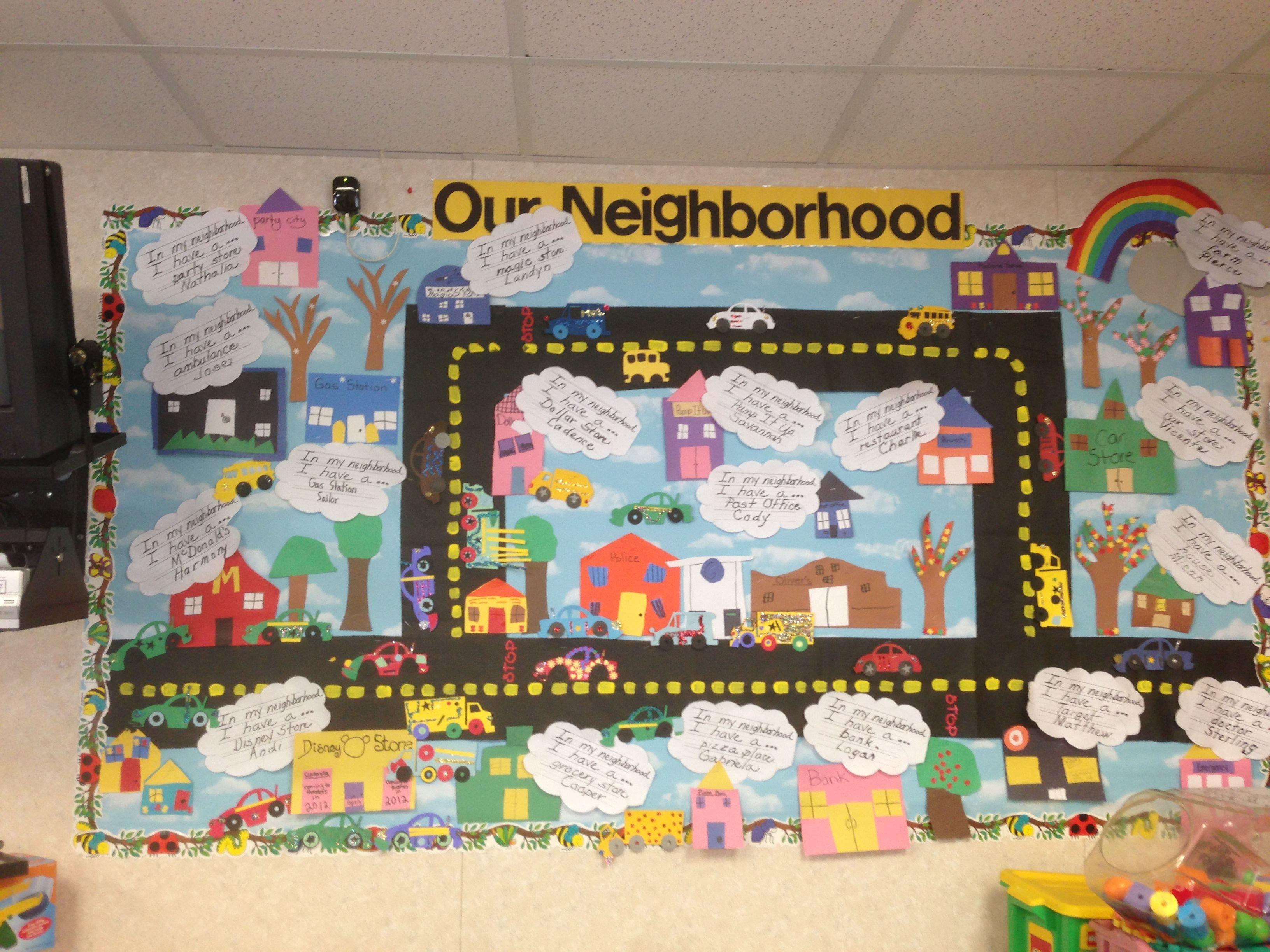 my class our community and neighborhood kindergarten pinterest