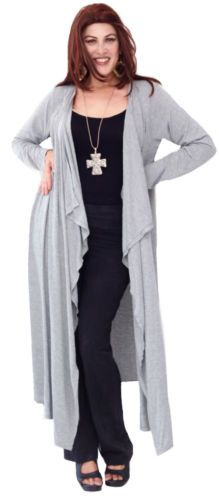 P257A-IN-STOCK-NOW-MISTY-JACKET-DUSTER-RUFFLES-STRETCH-JERSEY-OS-M-L-XL-1X-2X