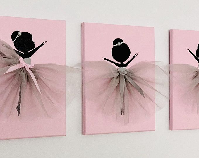 Photo of Ballerina nursery wall art. Pink and grey ballerina decor