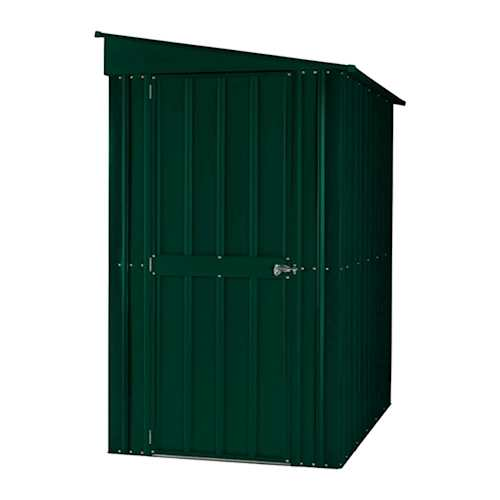 Lotus Metal Lean To Pent Shed In Heritage Green Solid Sheds Metal Shed