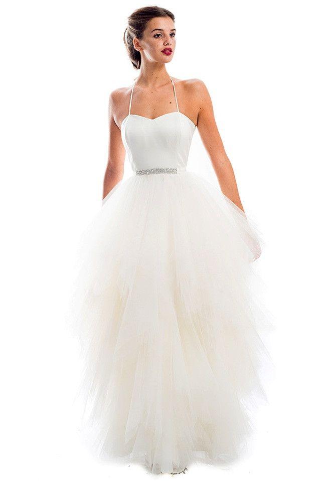 Vestido de novia con falda de tul modelo 383 by Boutique Clara ...