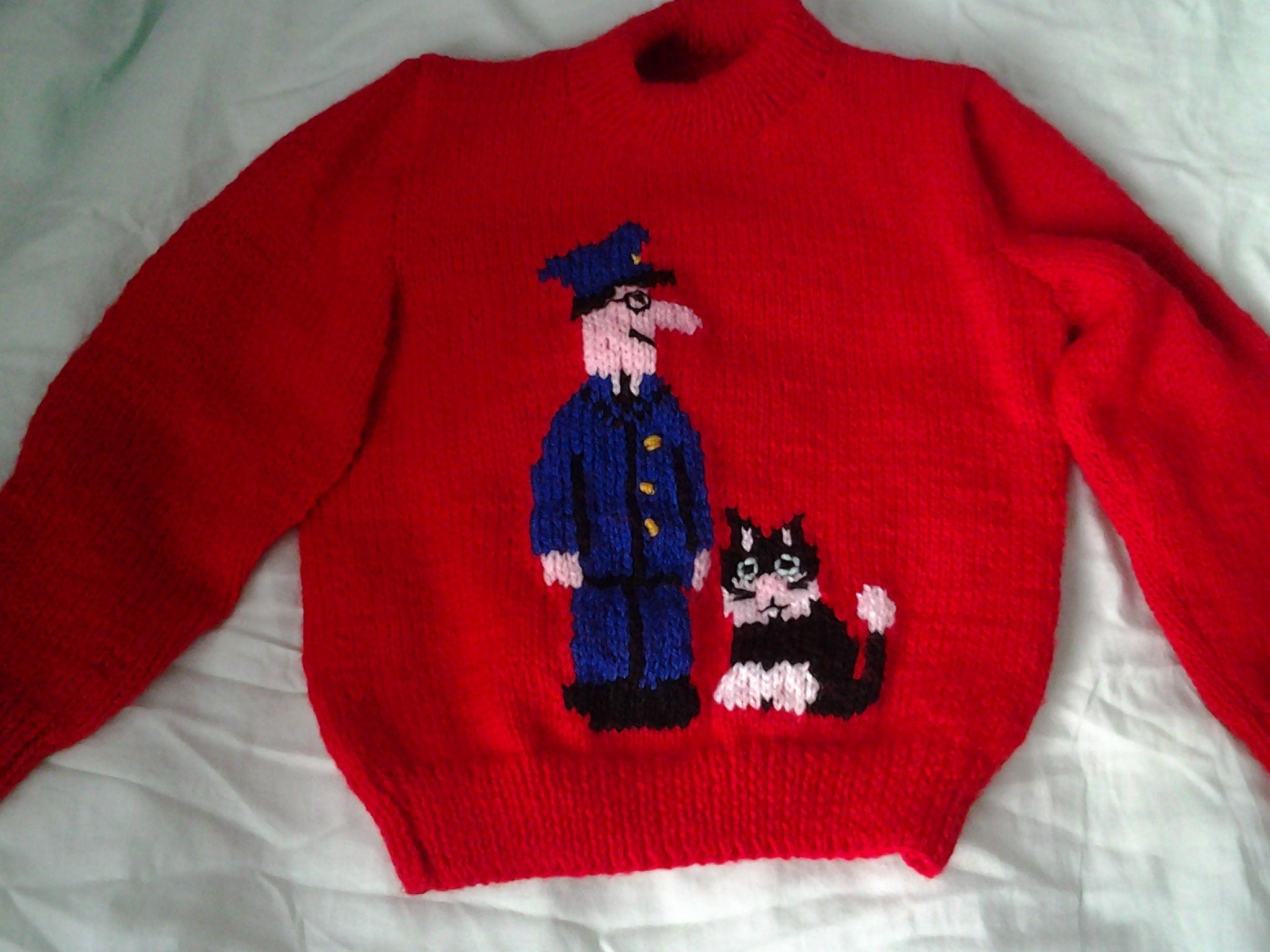 9 best knitting for when mum gets pinterest images on pinterest postman pat jumper bankloansurffo Images