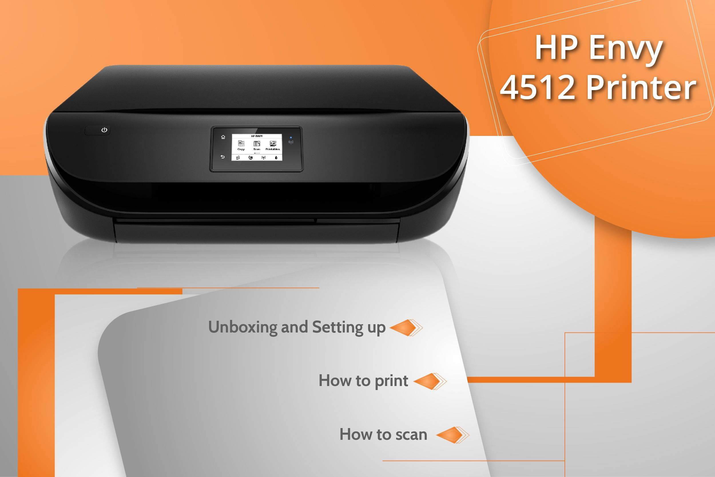 Complete easy guidance for Unboxing & Setting your HP Envy