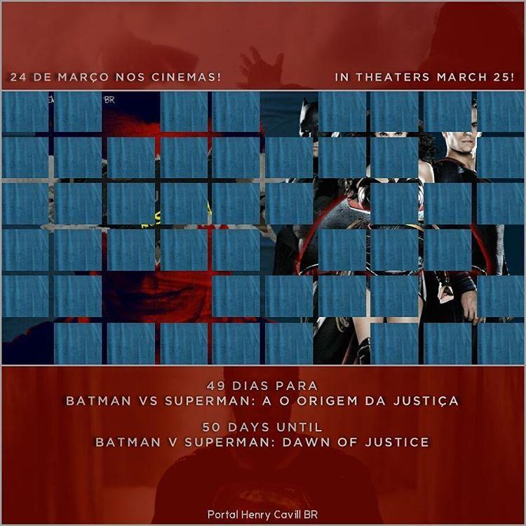 """""""49 dias para Batman vs Superman: A Origem da Justiça // 50 days until #BatmanvSuperman!  #TeamSuperman #BvS #HenryCavill #superman #aorigemdajustiça…"""""""