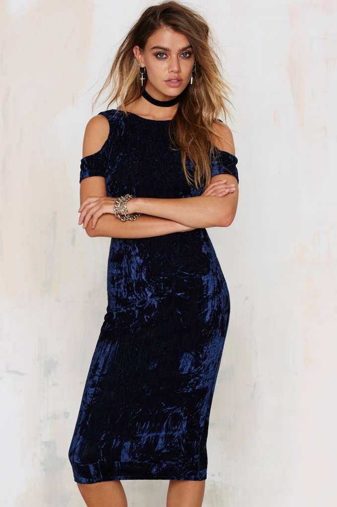 Tainted Love Velvet Cold-Shoulder Dress | Shop Clothes at Nasty Gal!