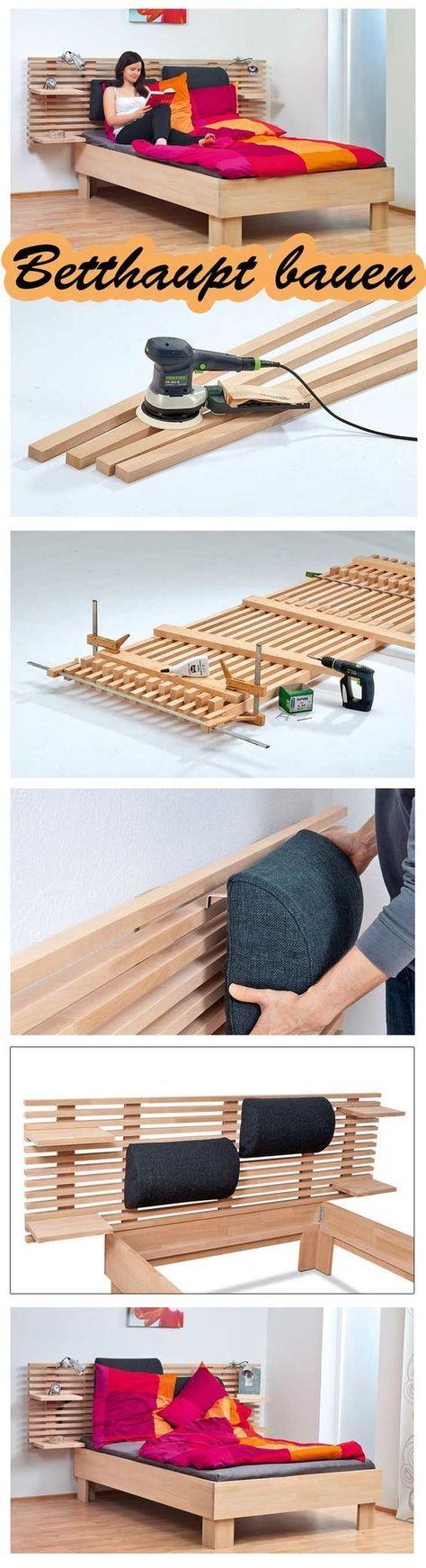 betthaupt bauen selbst bett m bel und bett bauen. Black Bedroom Furniture Sets. Home Design Ideas