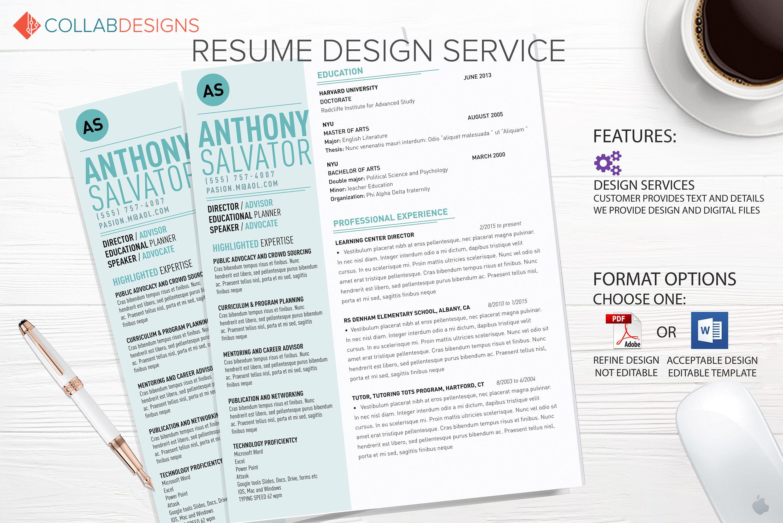 Resume template, resume design, Custom Resume