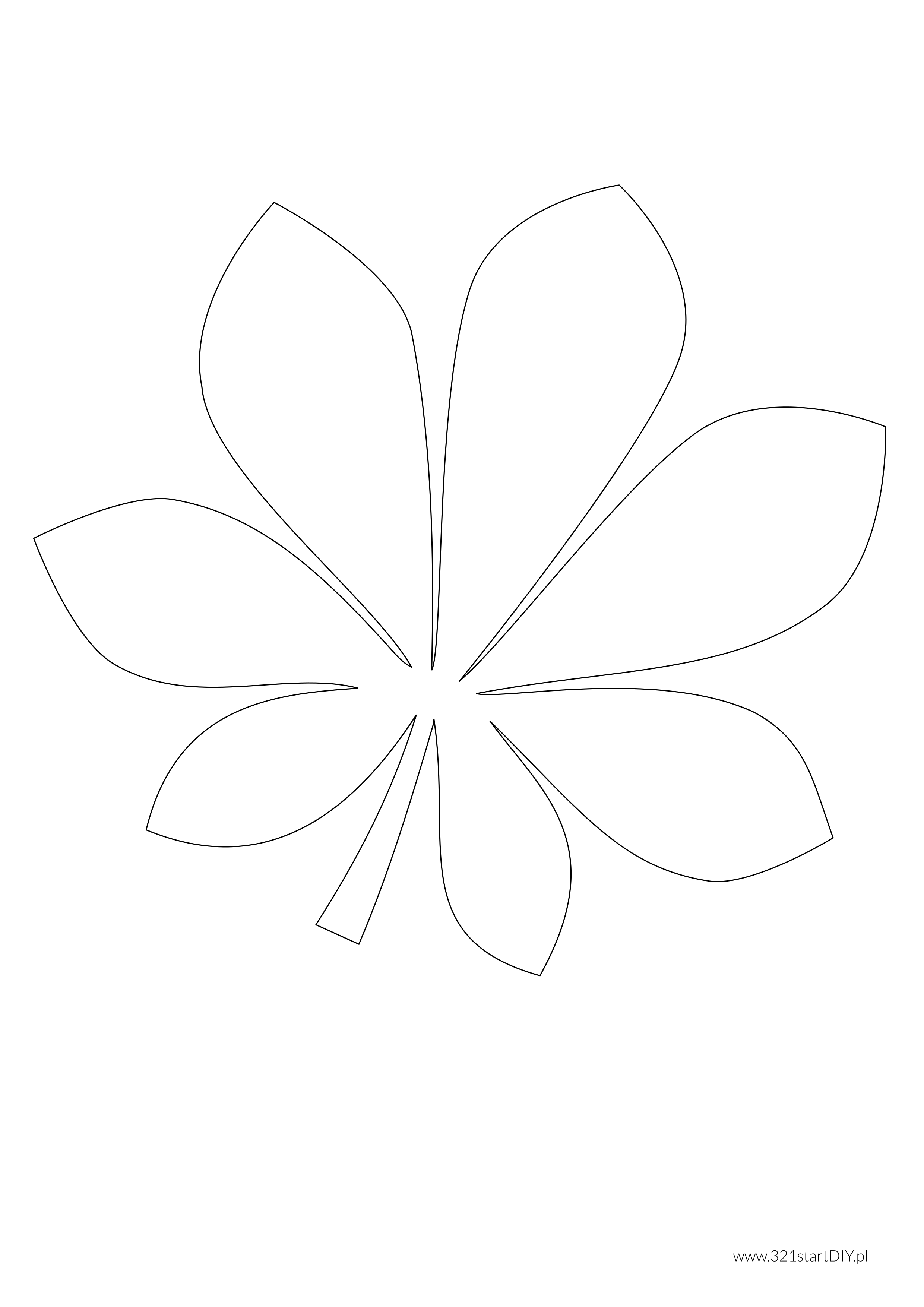 321startdiy Szablony Lisci 9 Png 2480 3508 Paper Flowers Quilting Stencils Silhouette Crafts