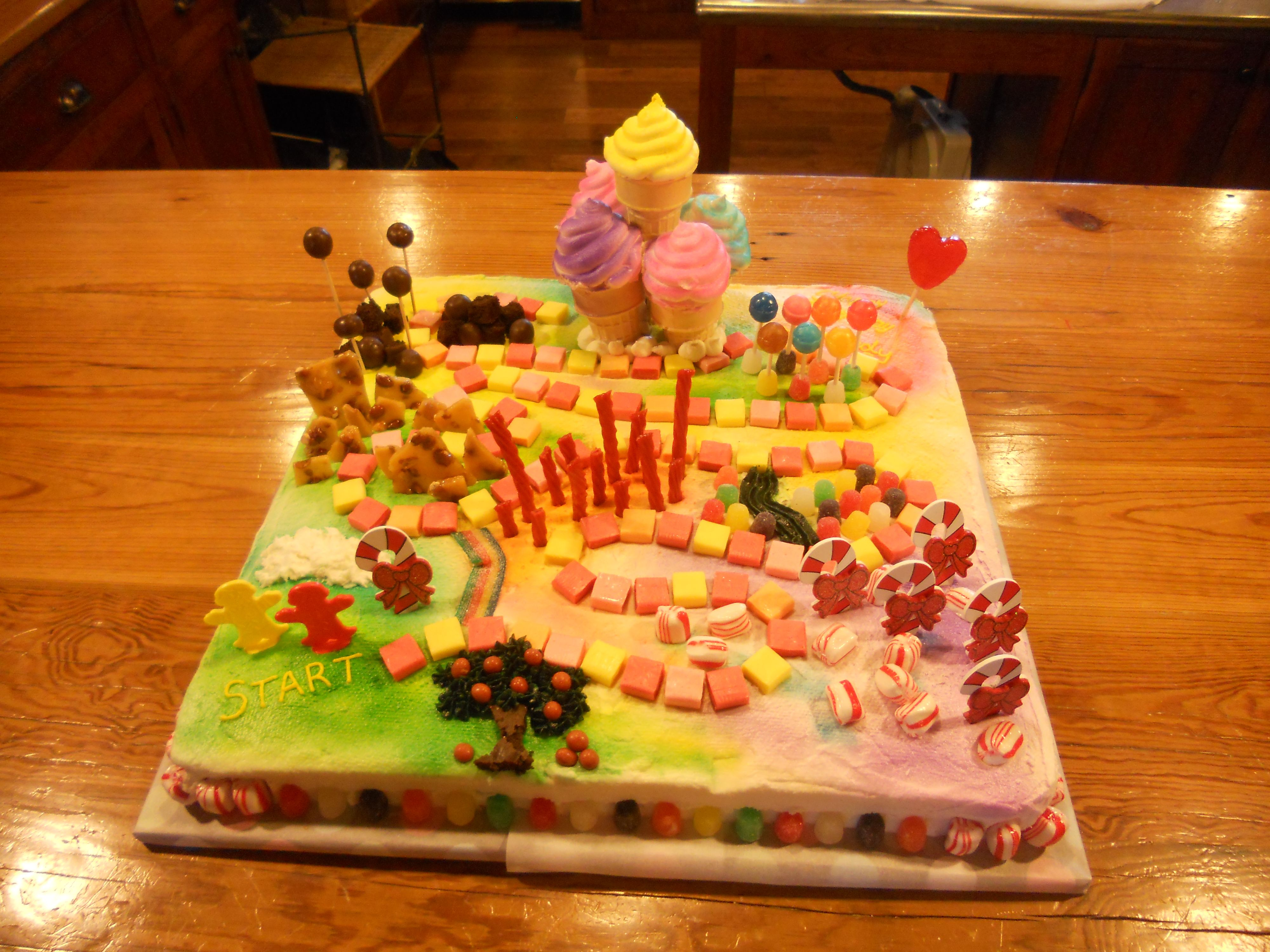 candyland board birthday cake (the only thing that would