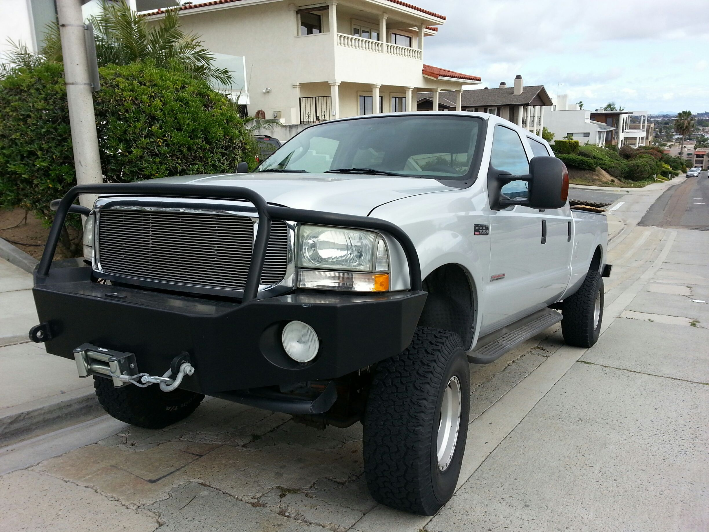 Ford f350 with aluminess front winch bumper