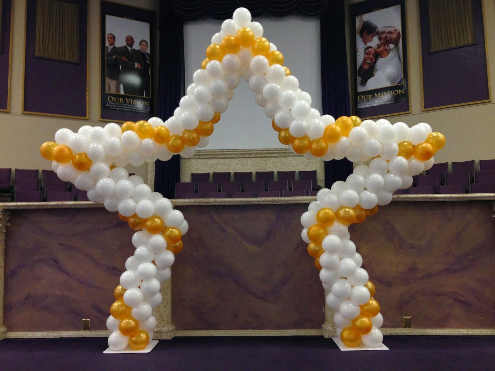 Stage or entrance star shape balloon arch balloon arch ideas pinterest arch balloon