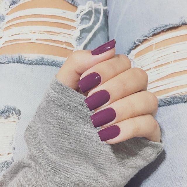 Plum nails