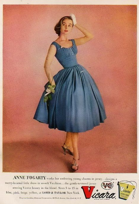 1955 Anne Fogarty Postwar American Fashion Designer Designed For Lower Income Women Accessible Fashi American Fashion Designers Fashion Vintage Clothes Women
