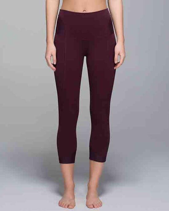 08b0e201b3 devi yoga crop//heathered bordeaux drama black cherry   lulu pants ...