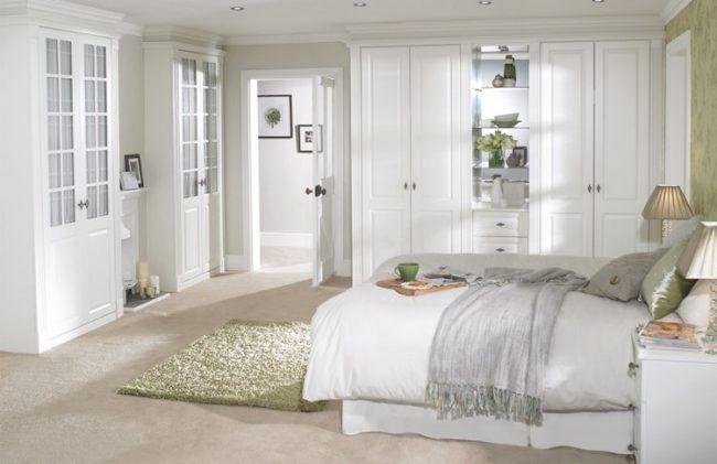 schlafzimmer-landhausstil-weiss-grün-beige   bedroom   Pinterest ...