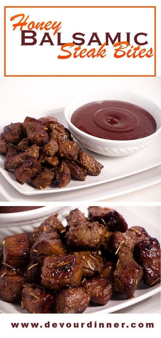 Honey Balsamic Steak Bites | Steak Recipes #beefsteakrecipe