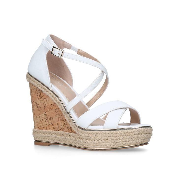 dddbed5bad Sublime White High Heel Wedge Sandals By Carvela Kurt Geiger | Kurt Geiger