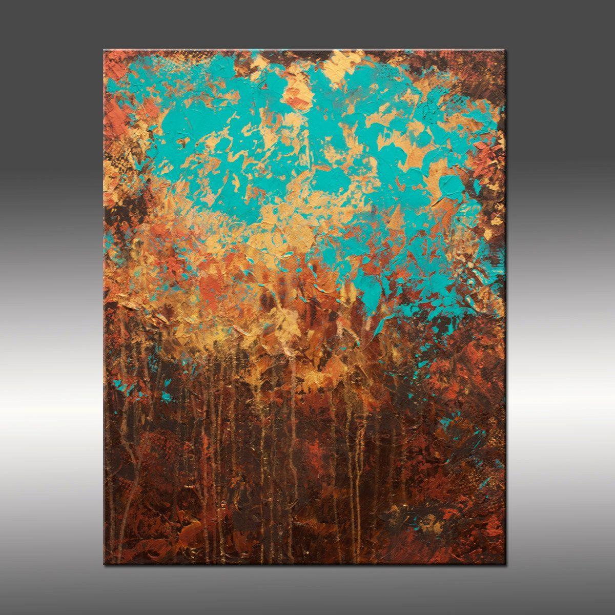 Pintura moderna abstracta original t tulo despertar por - Pinturas acrilicas modernas ...