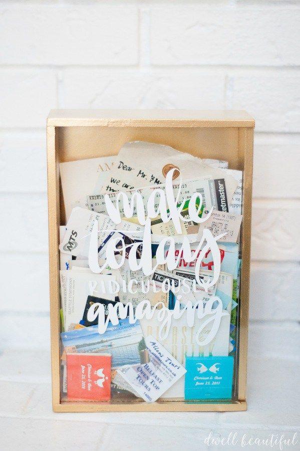 Craft Redux - Ticket Memory Box   Geschenkverpackung, Bilderrahmen ...