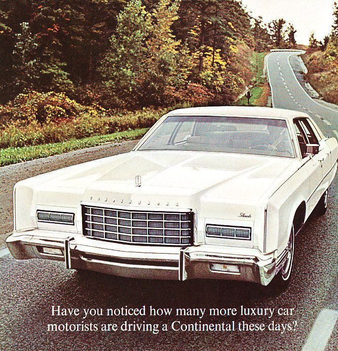 1973 Lincoln Continental Mark Iv Coupe Version 2 Sales Brochure
