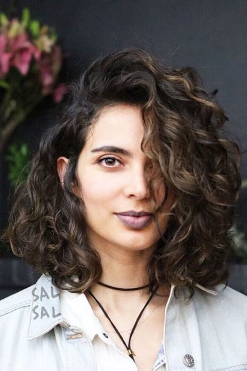 43 Hottest Curly Bob Hairstyles For Naturally Curly Hair Long Curly Bob Curly Bob Hairstyles Bob Haircut Curly