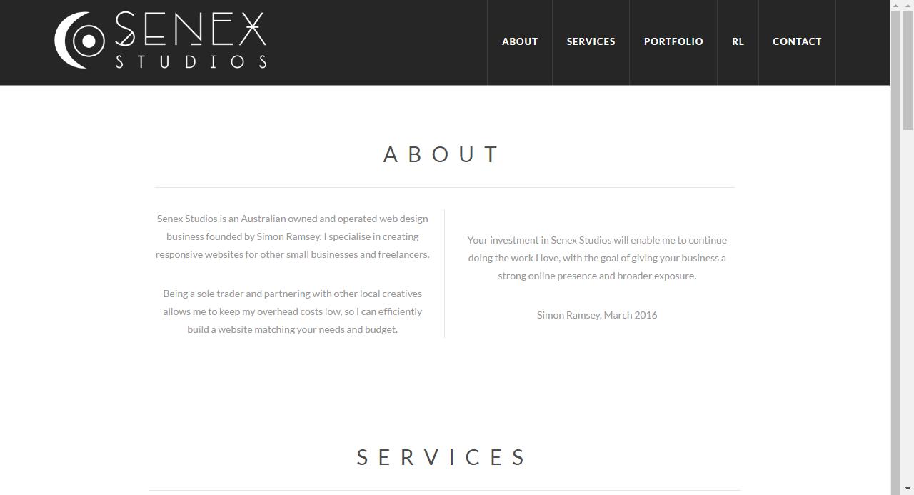 Senex Studios Business Design Web Design Studio