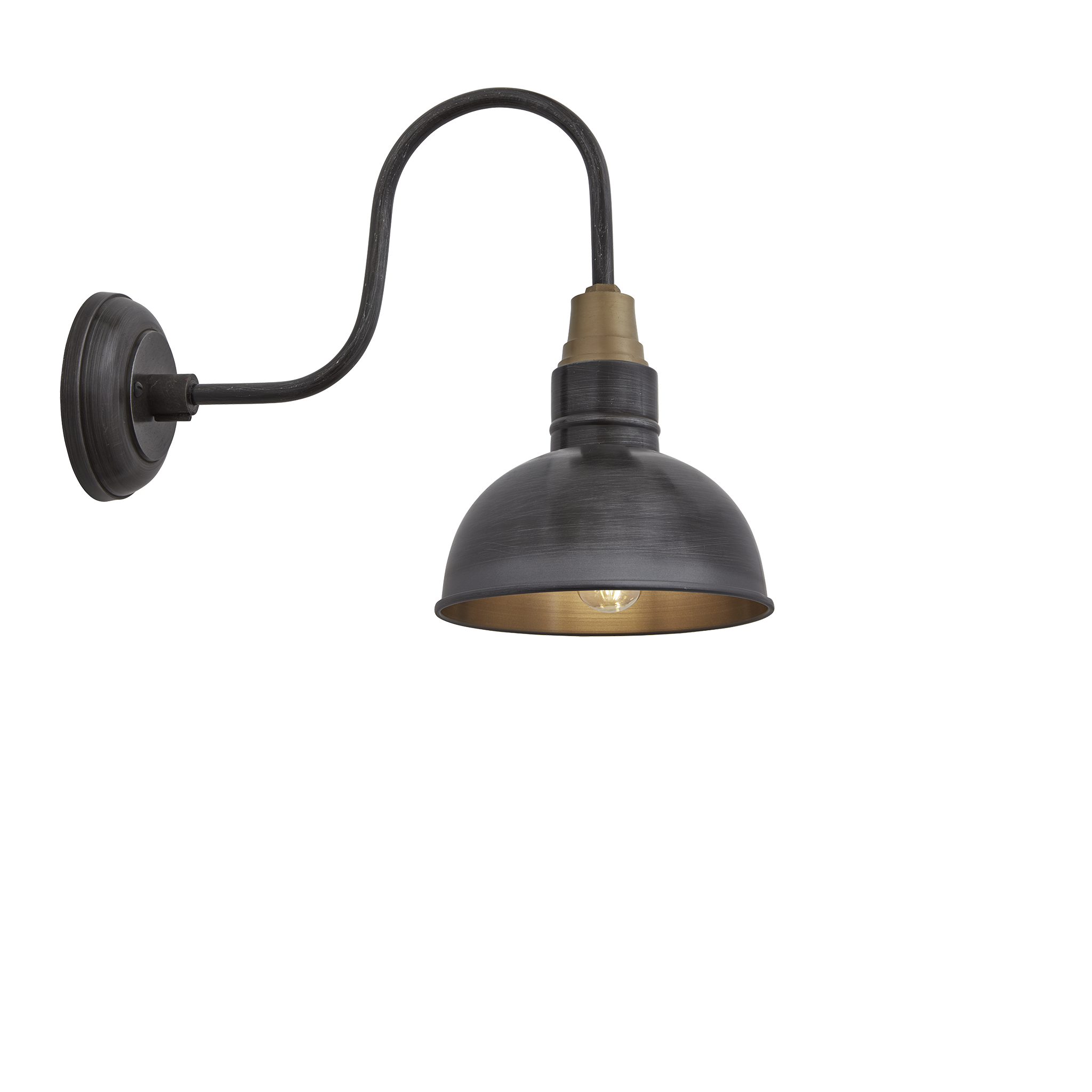 Swan neck dome wall light 8 inch pewter swans wall sconces swan neck dome wall light 8 inch pewter arubaitofo Choice Image