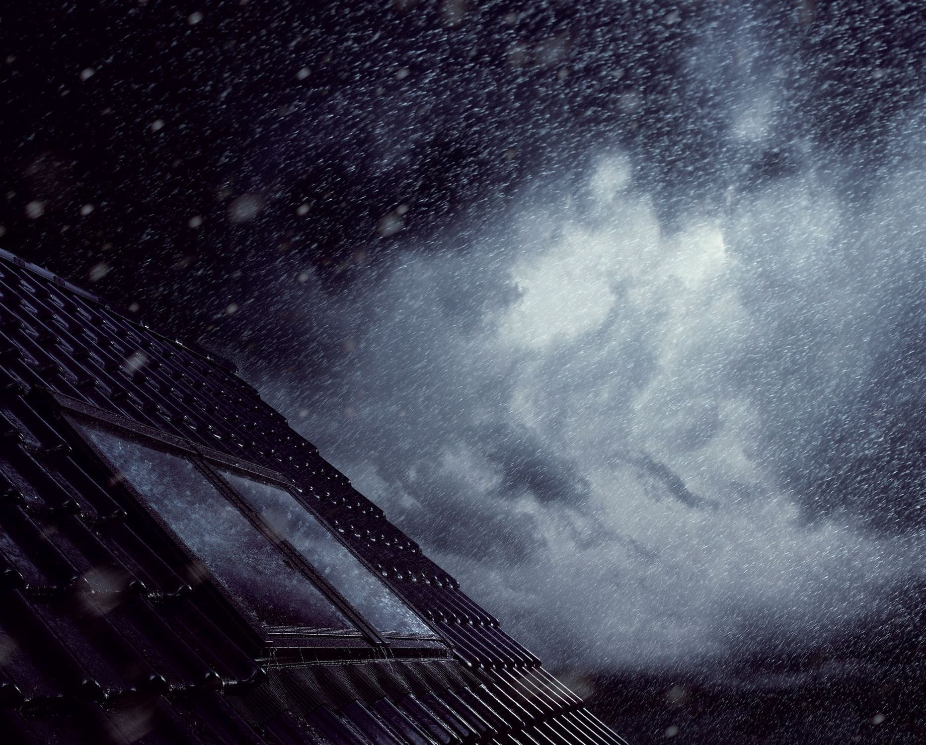The sound of rain on the roof....