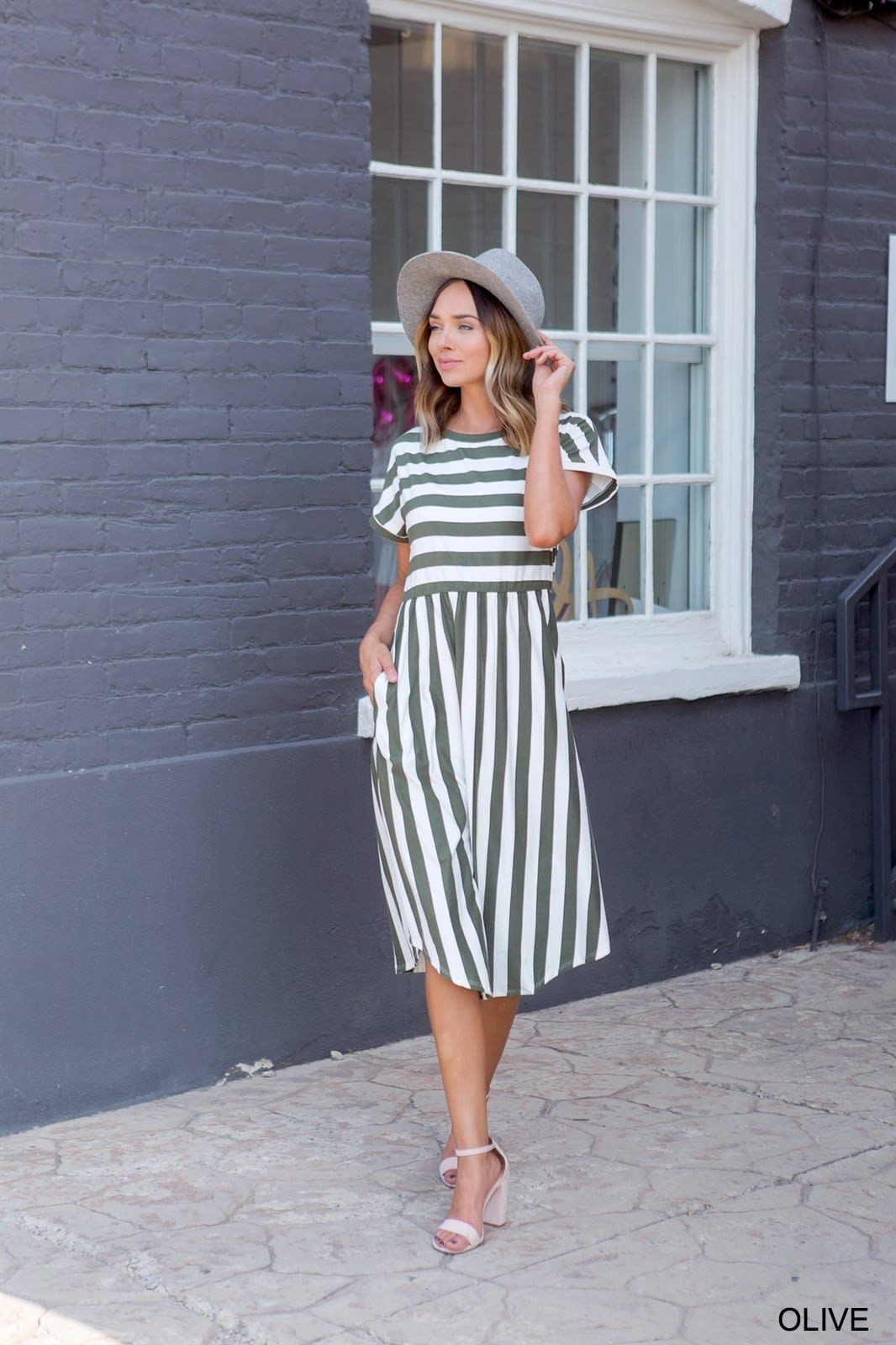 Fall Striped Midi Dress Collection Modest Dresses Striped Midi Dress Modest Dresses Casual [ 1600 x 1066 Pixel ]