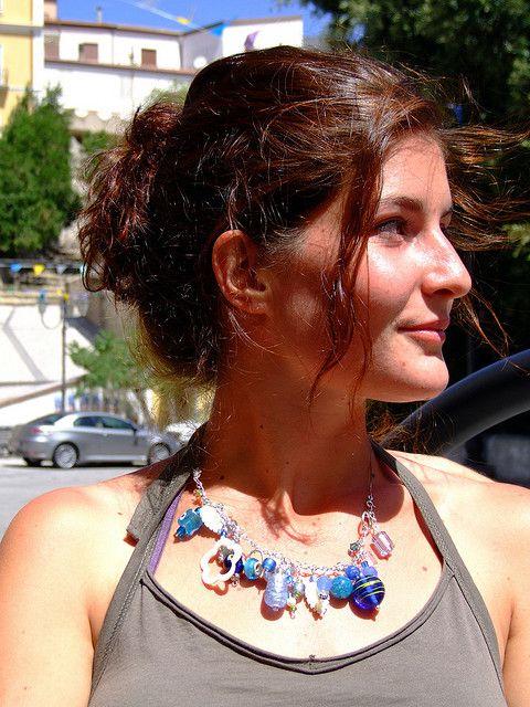 objets trouvés bracelets worn as necklace, via Flickr.
