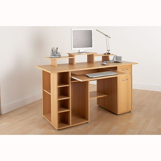 Drake Computer Work Station In Beech Effect