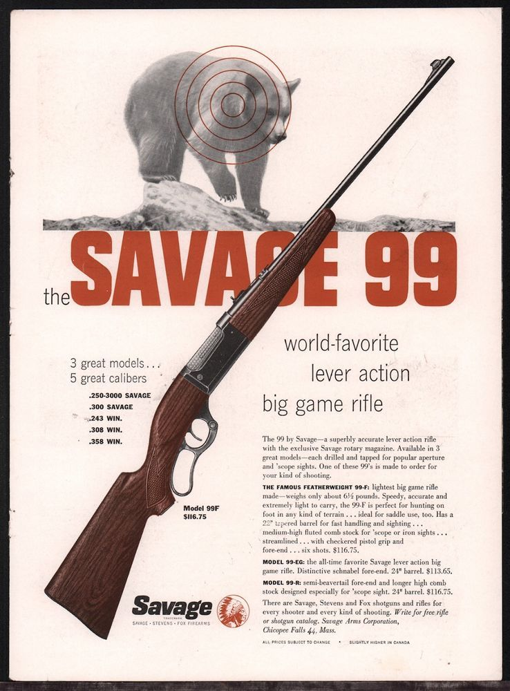 Image result for savage 99 advertisement 1950s