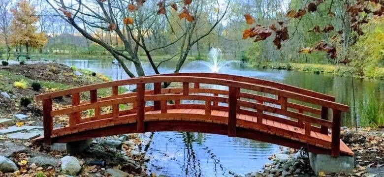 Redwood Garden Bridges Custom, Redwood Garden Bridges