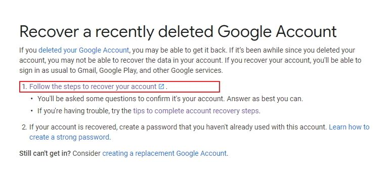 How To Recover Deleted Gmail Account Expertneeds Accounting Account Recovery Email Service Provider