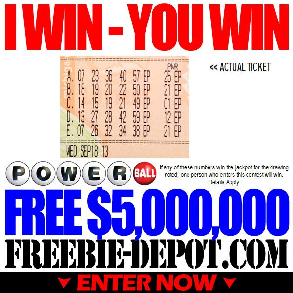 Feelin' Lucky? FREE Lottery Money – $5 Million! Only a couple of