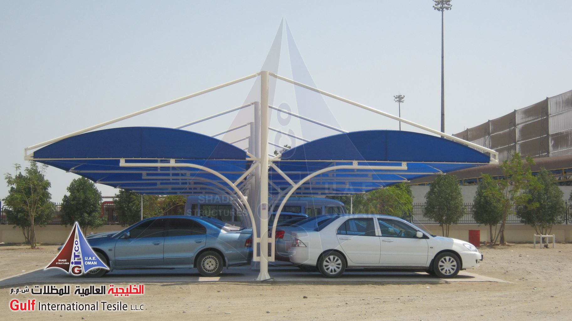 Ark Design for Car Parking shade & Ark Design for Car Parking shade | gulf international tensile ...