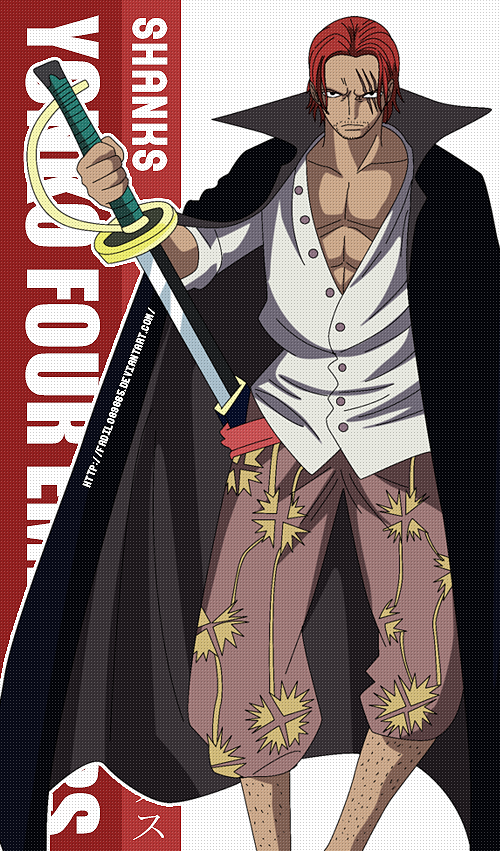 One Piece Wallpapers Mobile Yonko Shanks By Fadil089665 Deviantart Com On Deviantart One Piece Anime One Piece Drawing One Piece Luffy