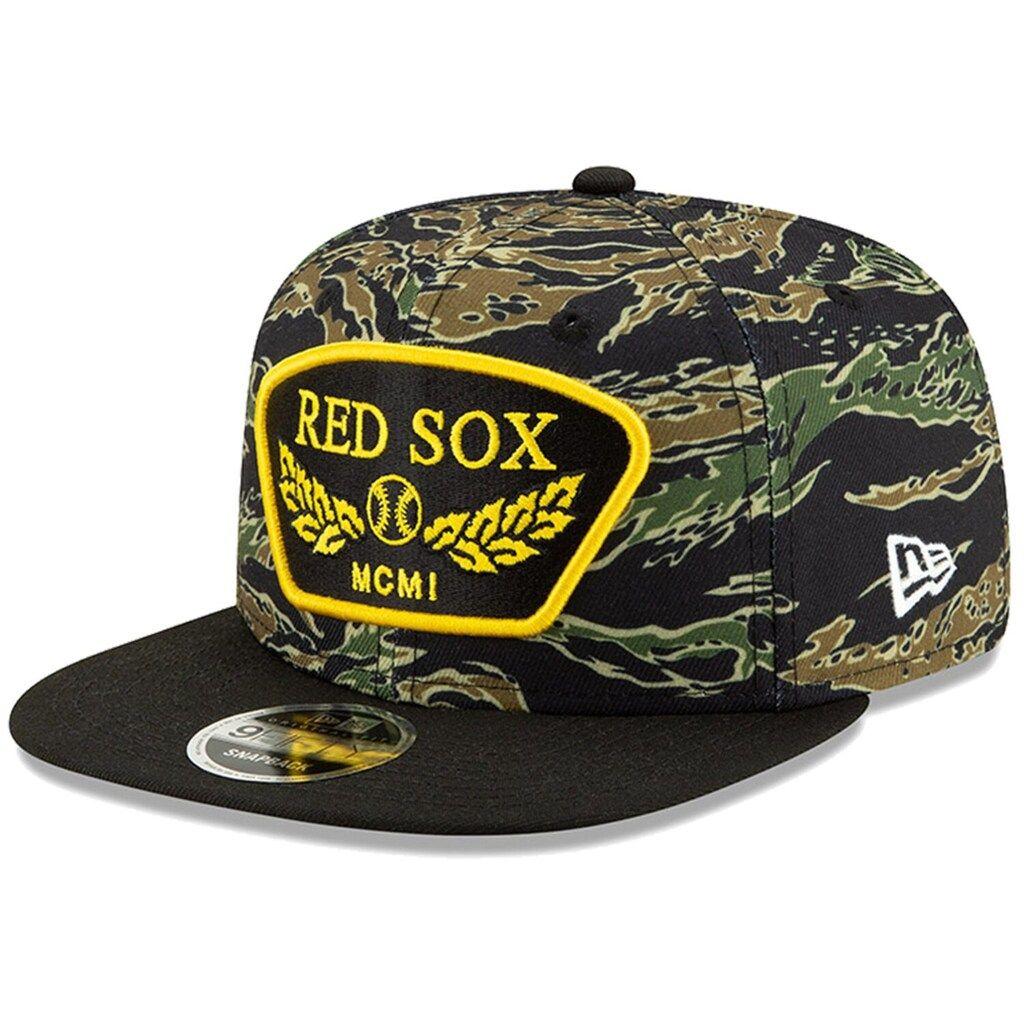Men S New Era Camo Boston Red Sox League Vet 9fifty Snapback