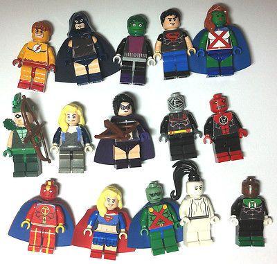 LOT of 15 Custom Lego Minifigures DC Marvel Super Heroes Martian Kid