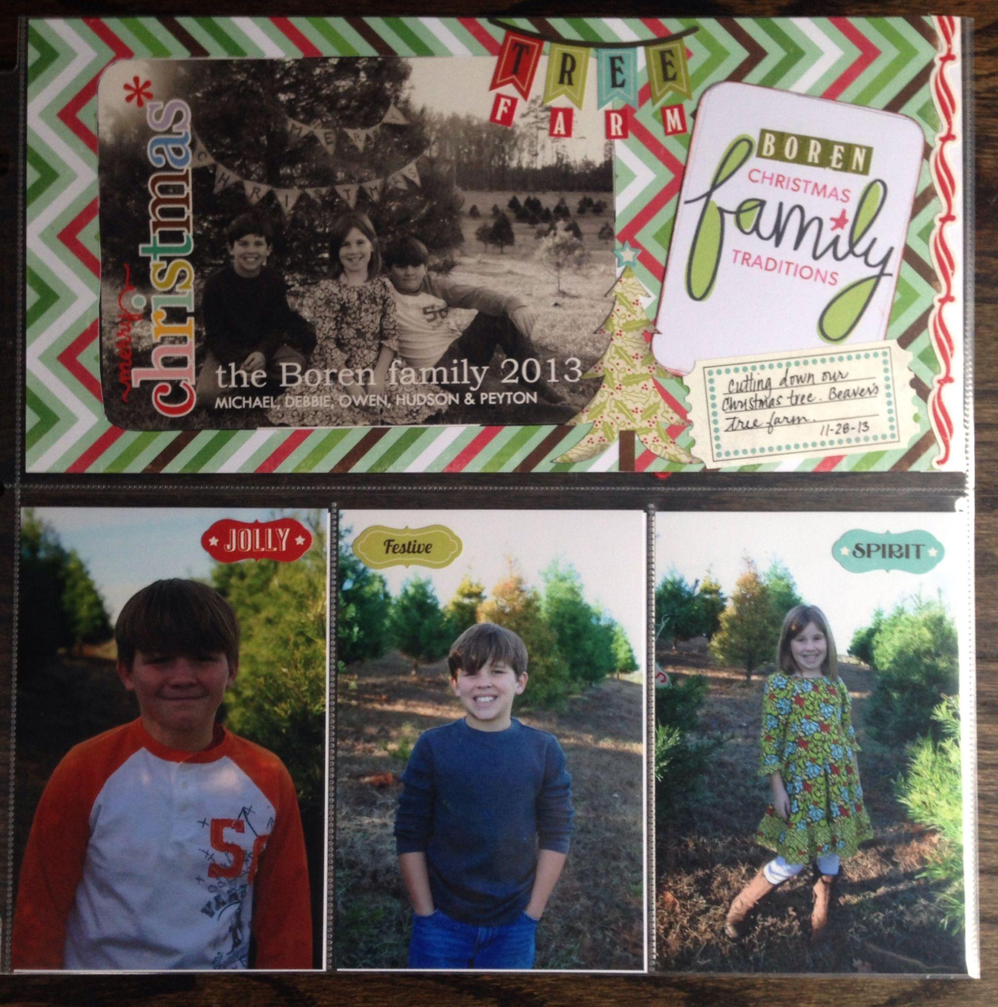 Scrapbook ideas christmas card - Christmas Card Photo Shoot Scrapbook Layout
