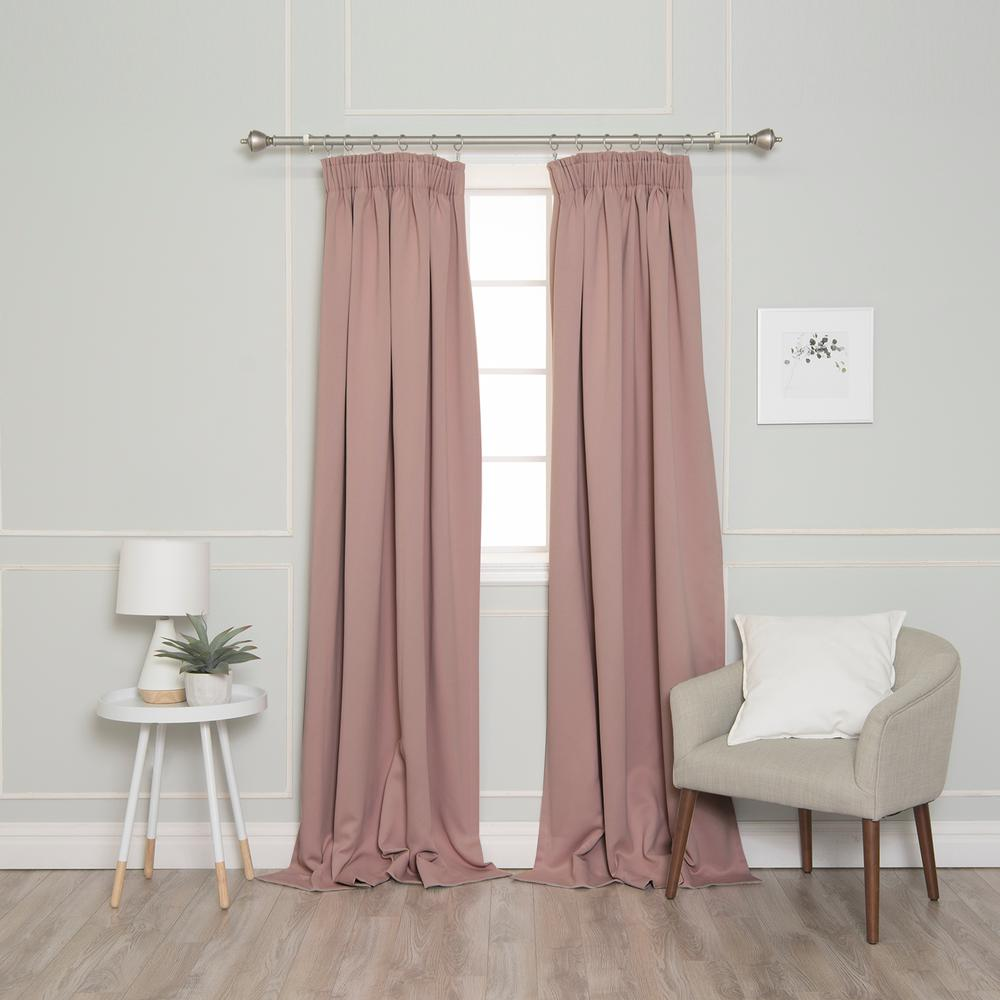 Best Home Fashion 84 In. L Pencil Pleat Blackout Curtains