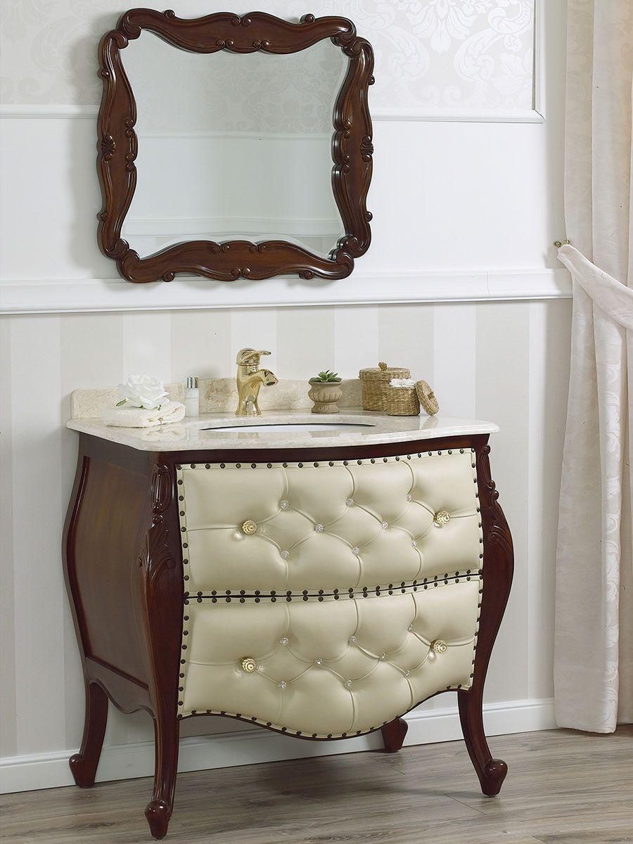 Mobili Da Bagno Barocco.Mobile Bagno Stile Barocco Colore Noce E Crema Moveis