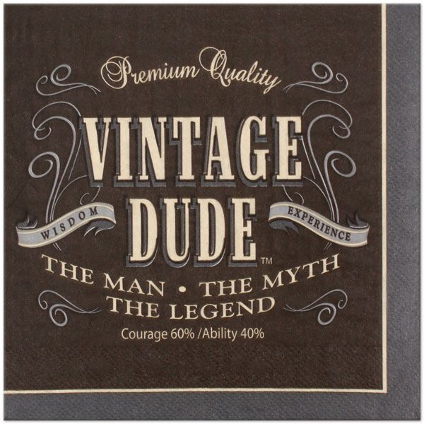 Vintage Dude 6.5in Lunch Napkins 16ct